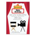 "Movie Night Kids Birthday Party Invitation 5"" X 7"" Invitation Card"