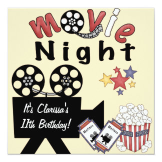 Movie Night Madness Invitations