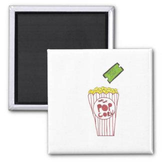 Movie Night 2 Inch Square Magnet