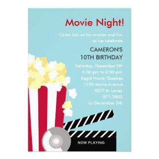 Movie Night Party Invitation Custom Invitation