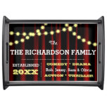 Movie Night Personalized Serving Tray