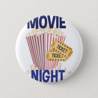 Movie Night Pinback Button