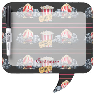 Movie Night Popcorn Dry Eraser Board