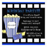 Movie Night-Popcorn Film Strip Invite