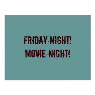 Movie Night postcard