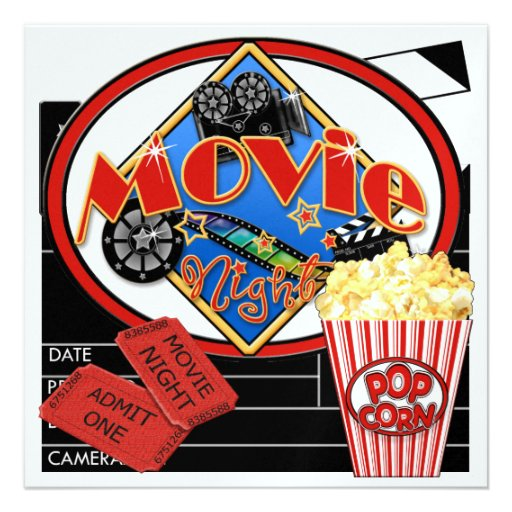 Movie Night ! SRF Custom Invites