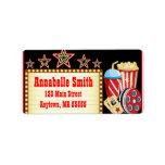 Movie Night Theatre Birthday Party Address Labels