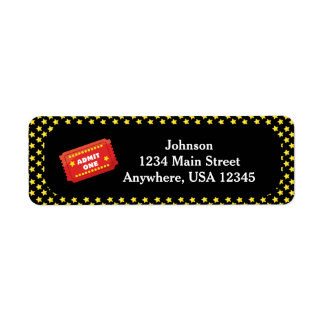 Movie Night Theme | Admit One Ticket  Personalized Label