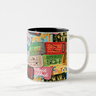 Movie Night Ticket Patterned Mug