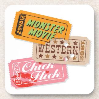 Movie Night Trio Cork Coasters Set/6
