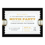 Movie Party Birthday Party Admission Ticket Card