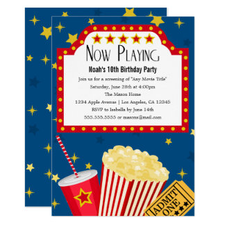 movie party birthday party invitation - Movie Birthday Party Invitations