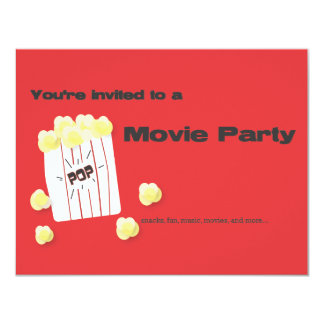 Movie Party Card