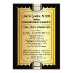 Movie Party Program Golden Admission Ticket Card