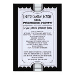 Movie Party Program in Purple Admission Ticket Card