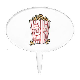 Movie Popcorn Cake Topper