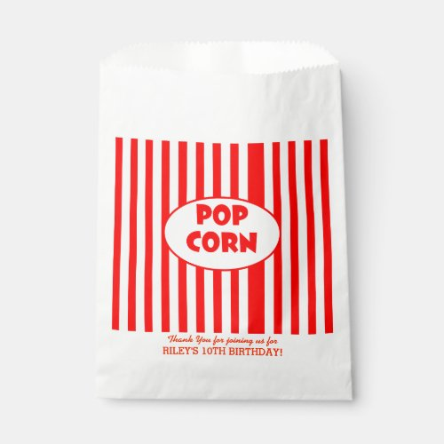 Movie Popcorn Personalized Party Favor Bag