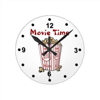 Movie Popcorn Wall Clock