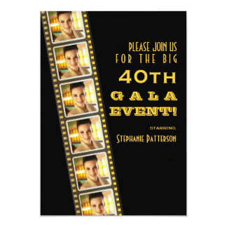 Movie Premiere Celebrity 40th Birthday Photo Gala Card