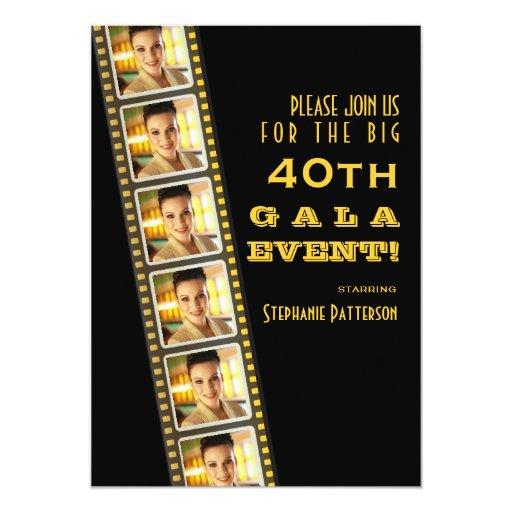 film premiere invitation template - movie premiere celebrity 40th birthday photo gala 5 x 7