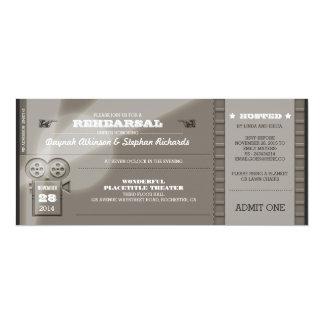"Movie Premiere REHEARSAL DINNER Tickets Invitation 4"" X 9.25"" Invitation Card"