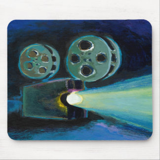 Movie projector colorful expressive painting art mousepad