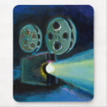 Movie projector colorful expressive painting art mouse pad