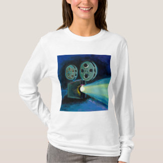 Movie projector colorful expressive painting art T-Shirt