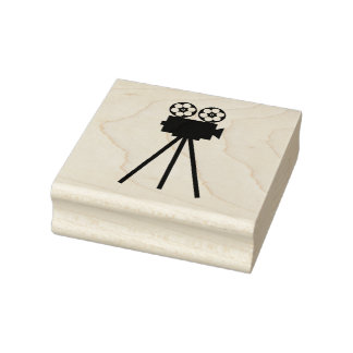 Movie Projector Rubber Stamp
