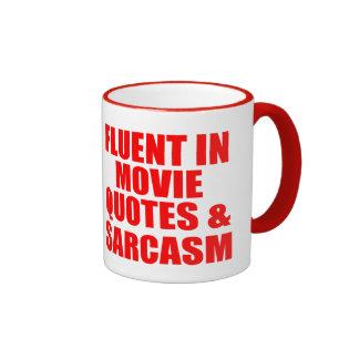 Movie Quotes And Sarcasm Ringer Mug