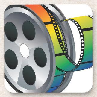 Movie Reel 2 Beverage Coaster