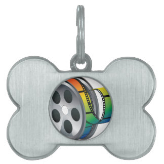 Movie Reel 2 Pet ID Tag