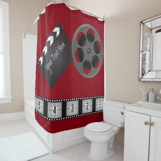 Movie Reel Clapboard Film Strip Shower Curtain