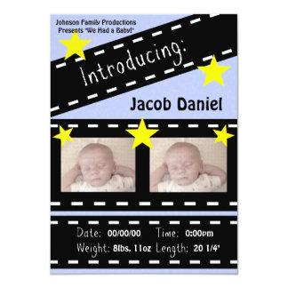 Movie Reel Clapper Board 4.5x6.25 Paper Invitation Card