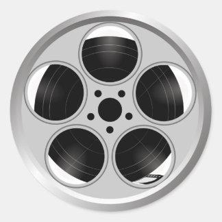Movie Reel Classic Round Sticker
