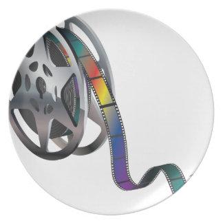 Movie Reel Dinner Plate