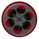 Movie Reel Large Clock