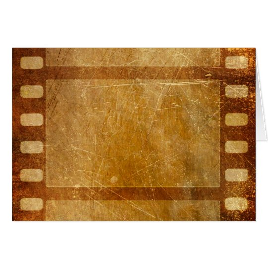 MOVIE REEL OLD-FASHIONED GRUNGE GOLD BACKGROUND DI CARD