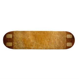 MOVIE REEL OLD-FASHIONED GRUNGE GOLD BACKGROUND DI SKATEBOARD