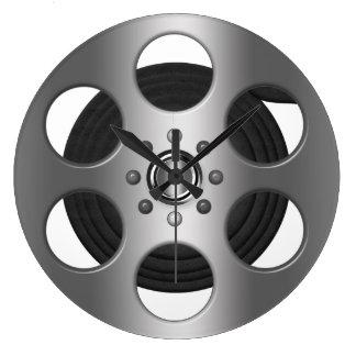 Movie Reel (printed flat) Large Clock