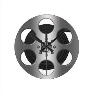 Movie Reel (Printed Flat) Round Wallclocks