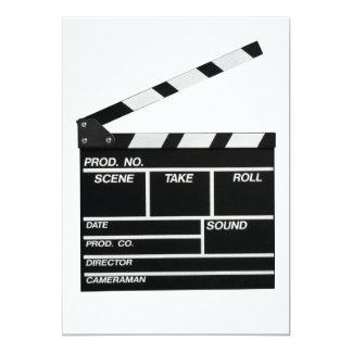Movie Shoot 5x7 Paper Invitation Card