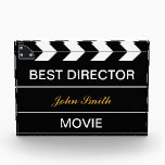 """Movie Slate Acrylic Award<br><div class=""""desc"""">Budding movie makers and aspiring film students would be inspired to receive an award such as this from a teacher,  parent or mentor. Ideal for amateur film festival competitions.</div>"""