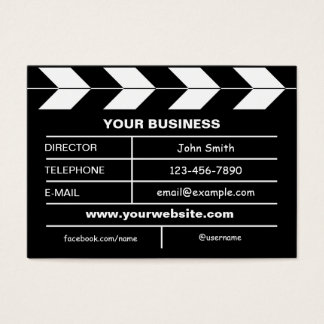 Movie Slate Business Card