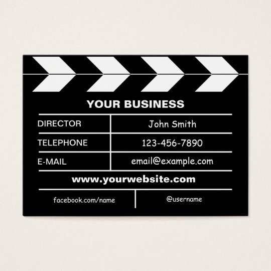 Movie slate business card zazzle movie slate business card colourmoves Gallery