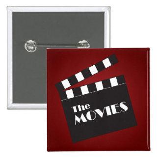 Movie Slate Clapboard Pinback Button