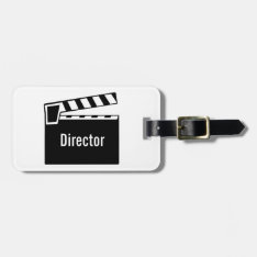 Movie Slate Clapperboard Bag Tag at Zazzle