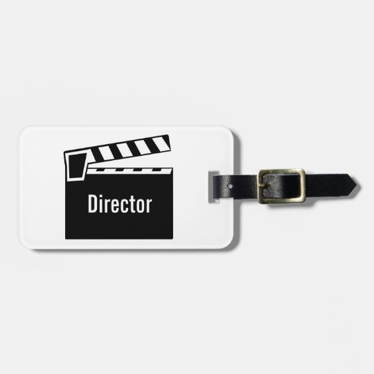 Movie Slate Clapperboard Bag Tag