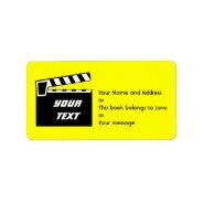 Movie Slate Clapperboard Board Address Label at Zazzle