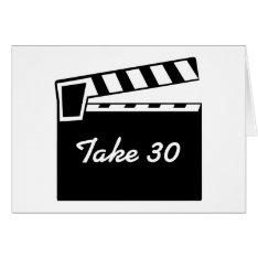 Movie Slate Clapperboard Board Birthday Card at Zazzle